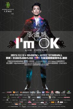 張繼聰 < I'm OK > Live Concert poster