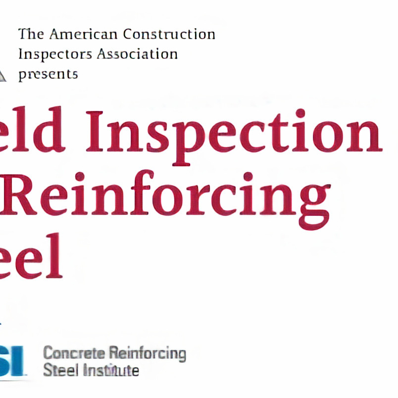Field Inspection of Reinforcing Steel with CRSI