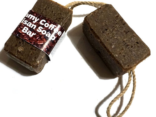 Creamy Coffee Soap-On-A-Rope