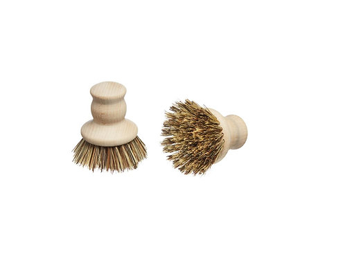 Small Wooden Pot Brush