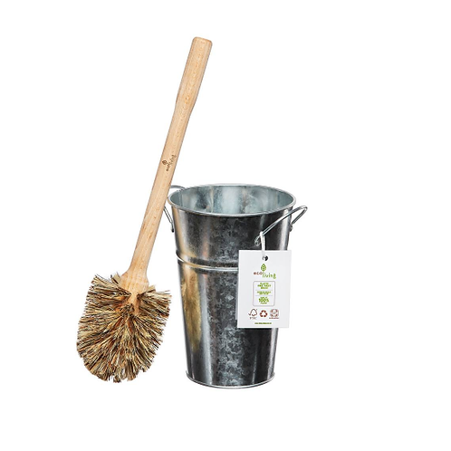 Plastic Free Toilet Brush & Holder