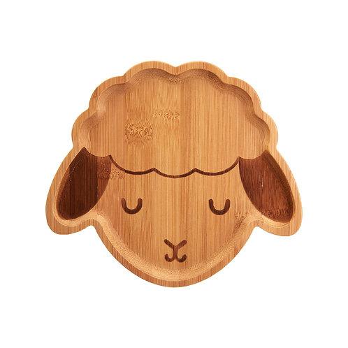 Child's Bamboo Plate Lamb