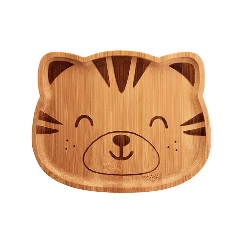 Bamboo Child's Plate Tiger