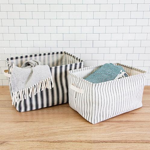 Striped Storage Baskets