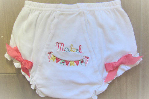 Personalized Baby Bloomer Diaper Covers