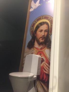 Dekor på toaletter.