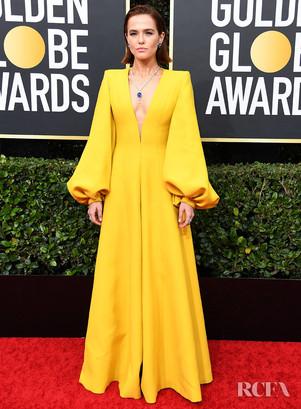 Zoey-Deutch-In-Fendi-Couture-–-2020-Gold
