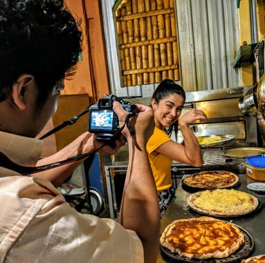 pierisbite making some pizza in coco bon