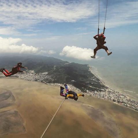 Parachuting in Bahia