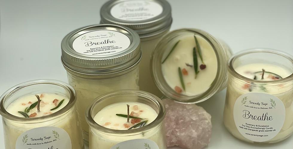 Breathe Rosemary & Eucalyptus Aromatherapy Soy Candle