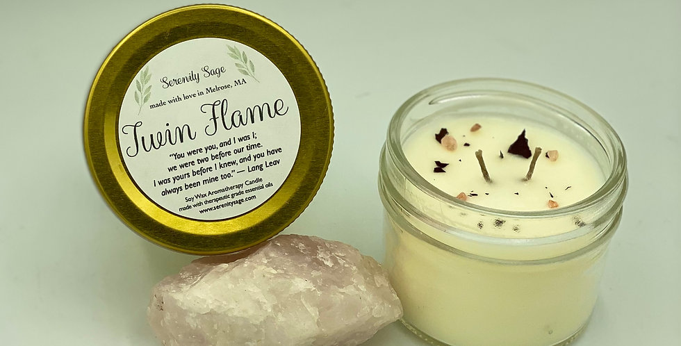 Twin Flame Organic Soy Candle