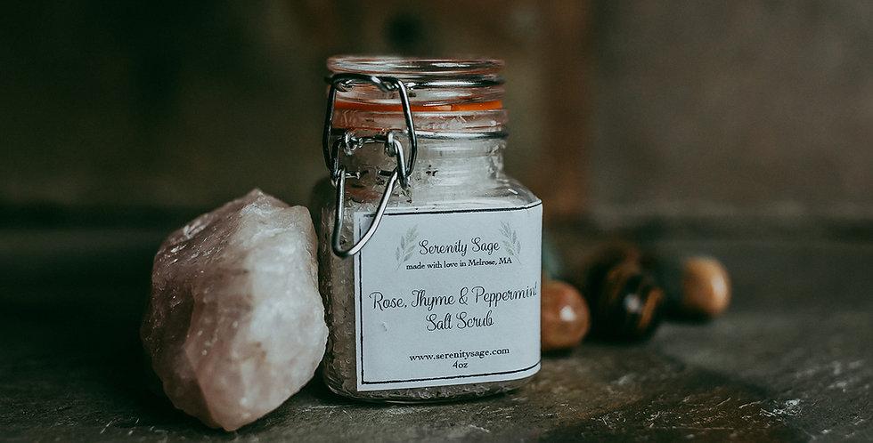 Rose, Thyme & Peppermint Salt Scrub