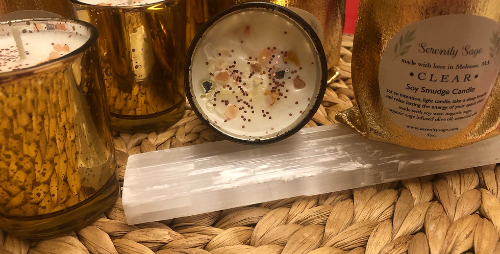 Clear Soy Smudge Candle
