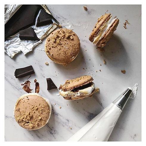 Dark Chocolate S'more #macarons.jpg