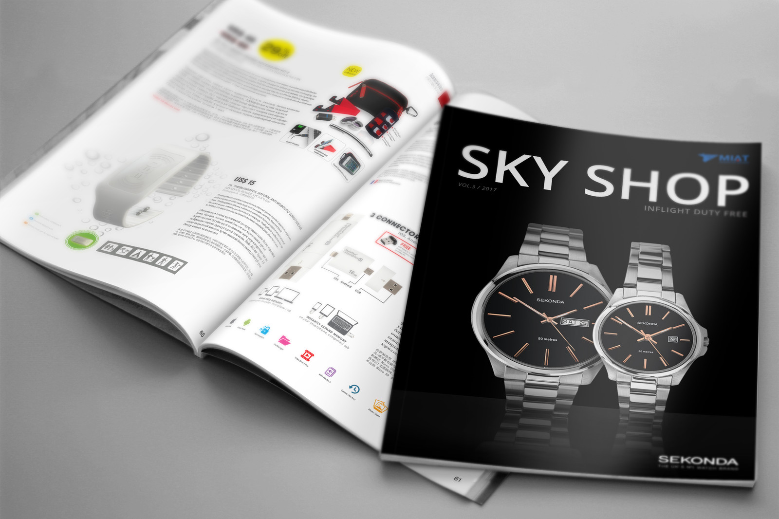 Inflight Duty free Magazine covers