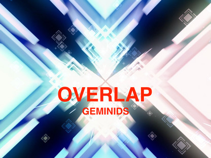 """GEMINIDS 2th anniversary cover Single """"OVERLAP"""" 2017.12.14out!"""