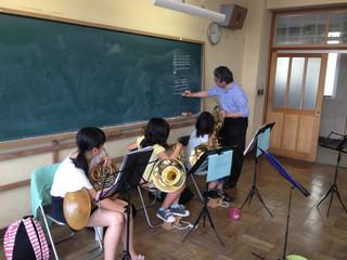 ジュニアバンド、特別楽器体験会の開催