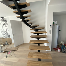 Escalier 2/4 tourant débillardé