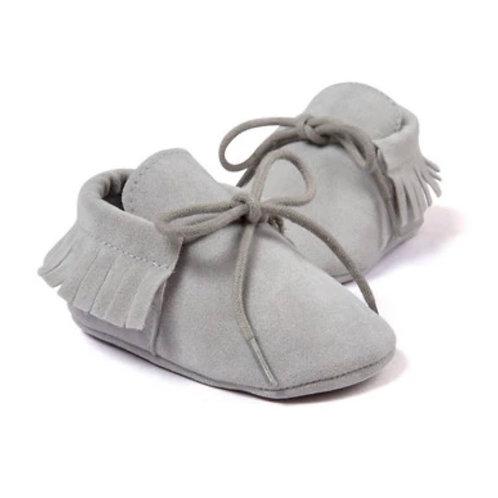 Grey Suede Moccs