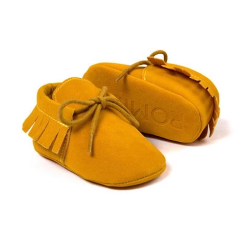 Mustard Suede Moccs