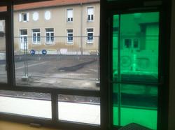 film de couleur translucide