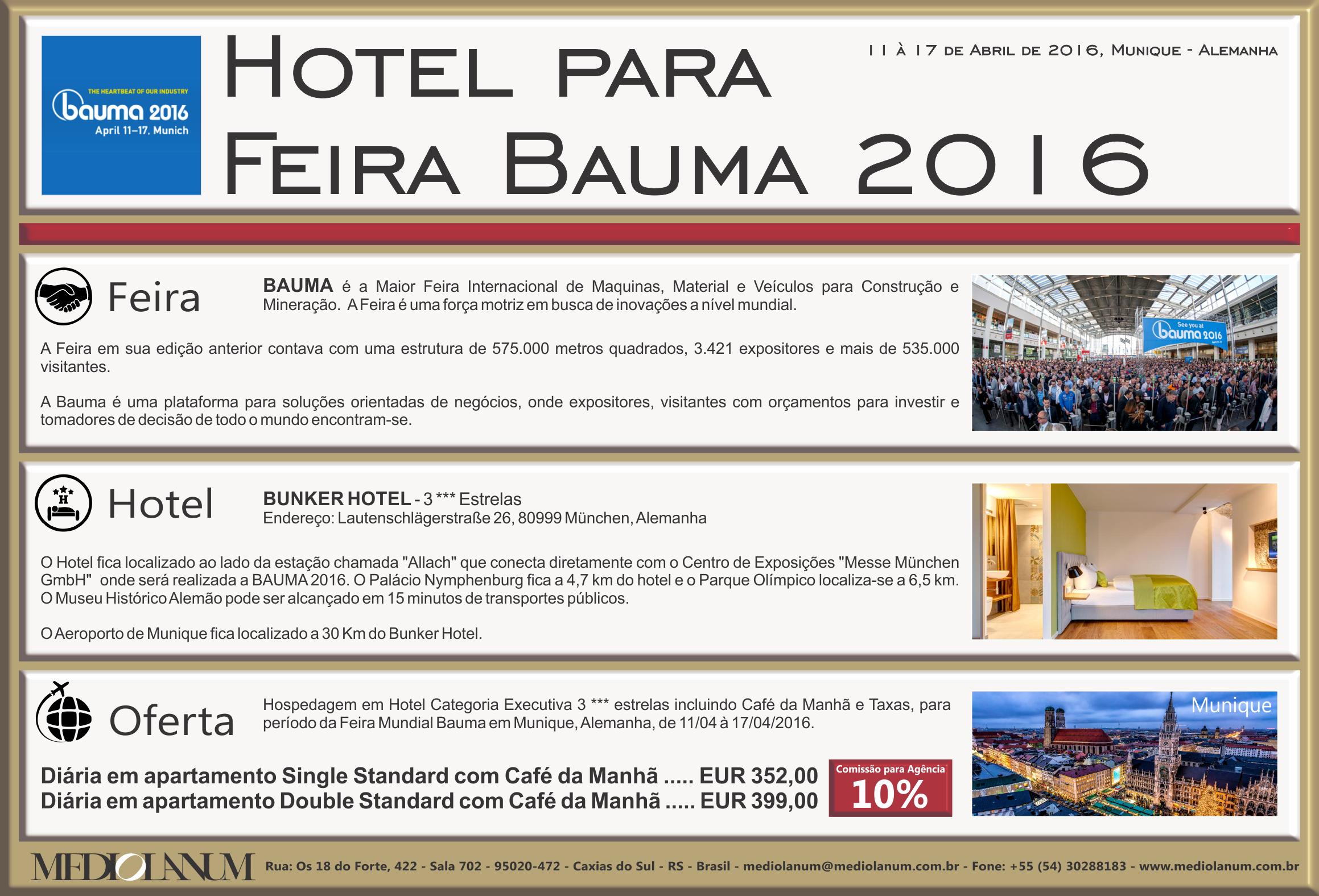 Bauma 2016 Hotelaria