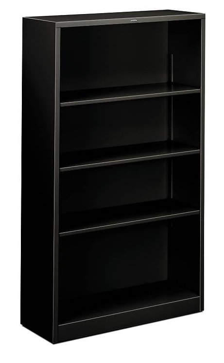 "HON Brigade Steel Bookcase | 4 Shelves | 34 1/2""W x 12 5/8""D"