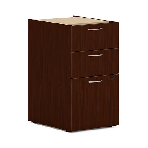 "HON Mod Support Pedestal | 2 Box / 1 File Drawer | 15""W"