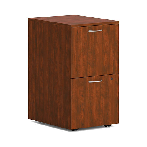 """HON Mod Mobile Pedestal   2 File Drawers   15""""W   Russet Cherry Finish"""