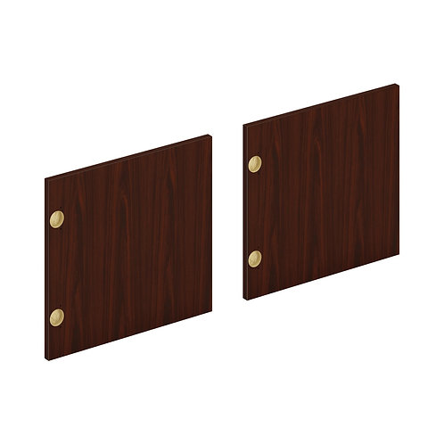 """HON Mod Laminate Doors   Set of 2   66""""W   Traditional Mahogany Finish"""
