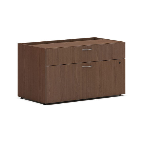 """HON Mod Low Personal Credenza Shell   2 Drawers   Without Top   36""""W"""