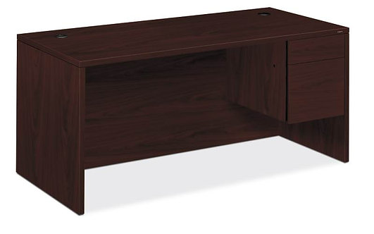 "HON 10500 Series  Pedestal Desk | 1 Box / 1 File Drawers | Right | 66""W"