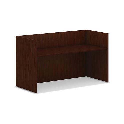 """HON Mod Reception Desk Shell   72""""W   Traditional Mahogany Finish"""