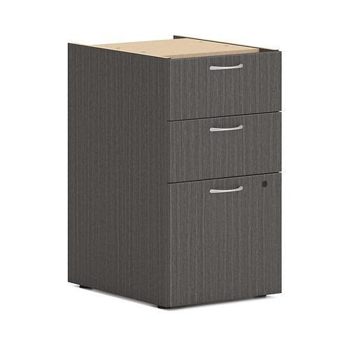 "HON Mod Support Pedestal | 2 Box / 1 File Drawer | 15""W | Slate Teak Finish"
