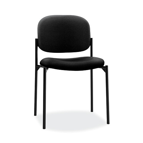 HON Scatter Stacking Guest Chair | Black Fabric