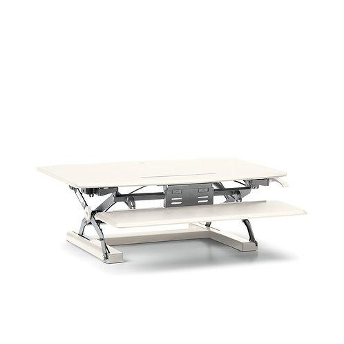 HON Coordinate Desktop Riser with Keyboard Tray | White