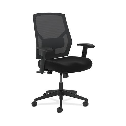 HON Crio High-Back Task Chair   Mesh Back   Adjustable Arms   Adjustable Lumbar