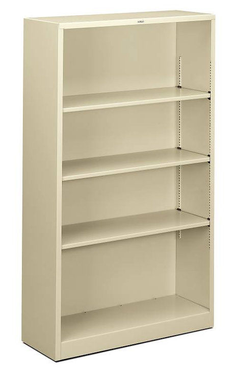 "HON Brigade Steel Bookcase | 4 Shelves | 34 1/2""W x 12 5/8""D"