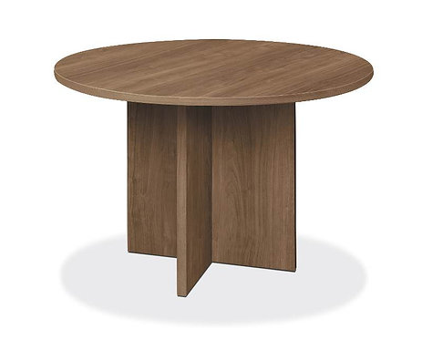 "HON Foundation Conference Table | Round | Flat Edge | X-Base | 48"" Diameter"