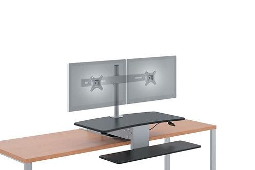 HON Coordinate Mounted Desktop Riser | Dual Monitor Arm