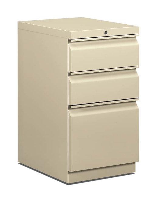"HON Mobile Pedestal | 2 Box / 1 File Drawer | 15""W"