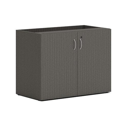 "HON Mod Storage Cabinet | 36""W | Slate Teak Finish"
