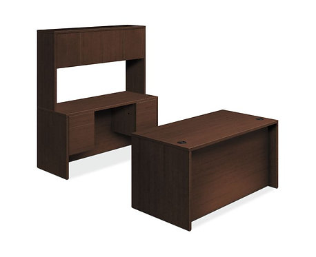 HON 10500 Series Laminate Compact Workstation | Desk, Credenza, Hutch