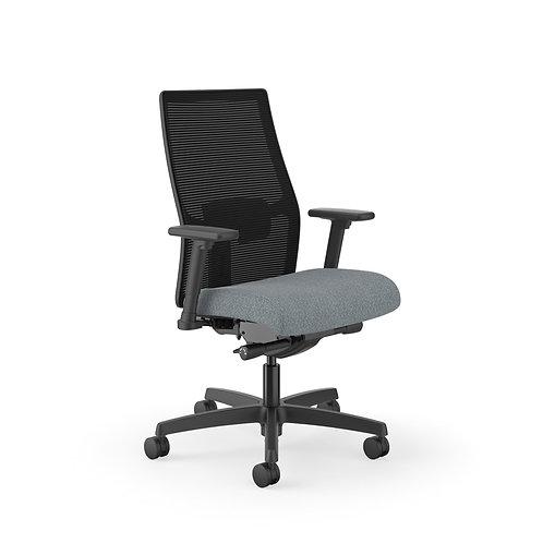 HON Ignition Mid-Back Task Chair | Black 4-Way Stretch Mesh Back