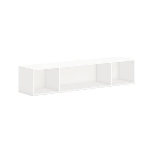 "HON Mod Wall Mounted Storage   Open   66""W   Simply White Finish"