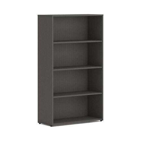 "HON Mod Bookcase   4 Shelves   30""W   Slate Teak Finish"