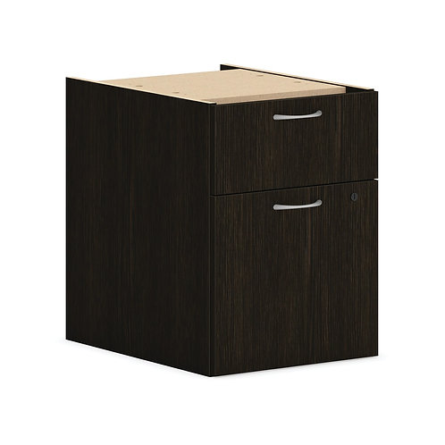 "HON Mod Hanging Pedestal | 1 Box / 1 File Drawer | 15""W | Java Oak Finish"