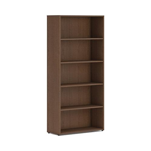 "HON Mod Bookcase   5 Shelves   30""W   Sepia Walnut Finish"