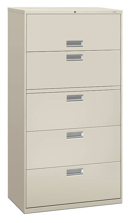 "HON Brigade 600 Series Lateral File | 5 Drawers | 36""W x 18""D"