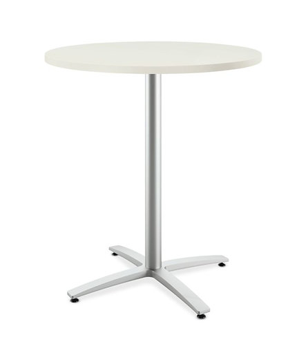 "HON Between Round Table | Standing Height X-Base | 36""D"